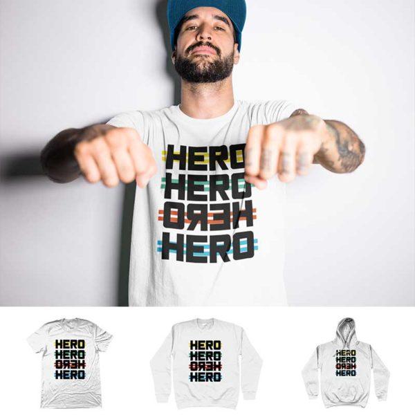 """T-shirt """"HERO"""""""