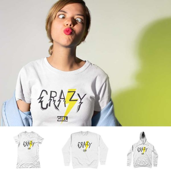 "T-shirt ""CRAZY GIRL"""