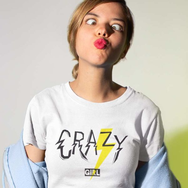 "Zoom T-shirt ""CRAZY GIRL"""