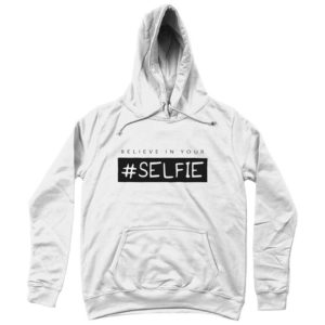 felpa-con-cappuccio-bianca-logo-selfie-in-offerta