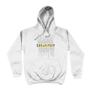felpa-con-cappuccio-_CREATIVITY_-BIANCO-t-shirt casual -shopping online-abbigliamento-distribuzione-in-tutta-italia-wippio-vendita-online-spedizione-veloce