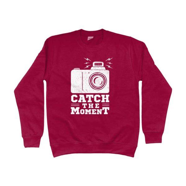 felpa-rossa-stampa-centrale-catch-the-moment-negozio-abbigliamento-firenze