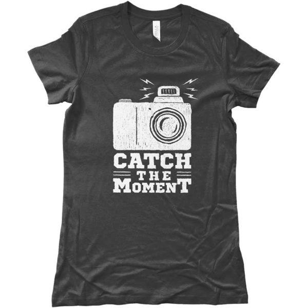 Maglietta DONNA _CATCH THE MOMENT_ - GRIGIO SCURO-magliette-creative-per-giovani-ottimo-materiale-wippio-venezia