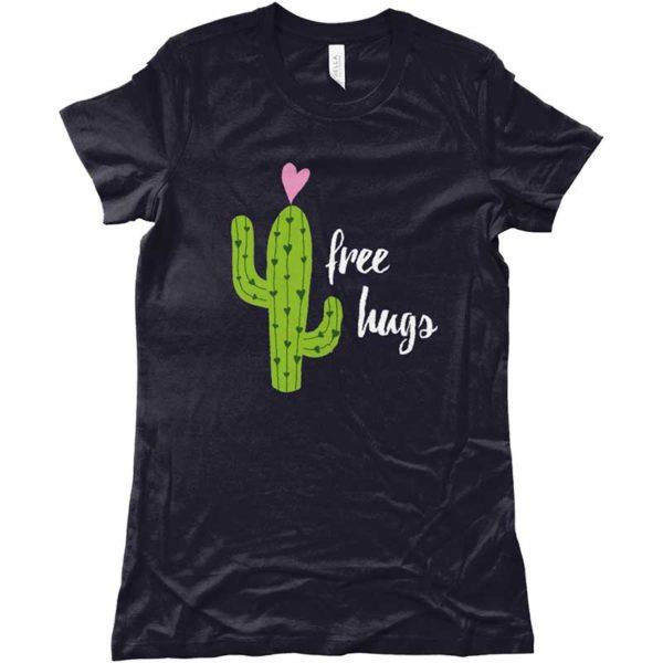 maglietta-_BORN-TO-BE-FREE_-blu-navy-t-shirt casual - shopping online-vestiti-internet-migliore-prezzo-sconto-magliette-primavera-negozio-brescia