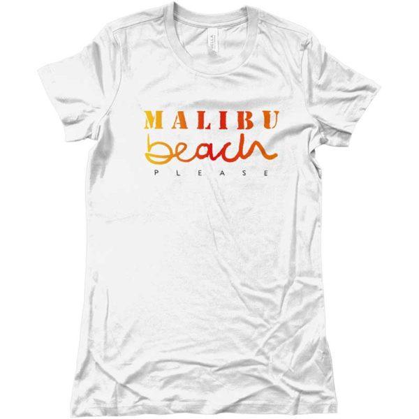 maglietta-con-scritta-malibu-beach-please-bianca-ragazza-ragazzo-shopping-online-spedizione-sicura-ottimi-prezzi