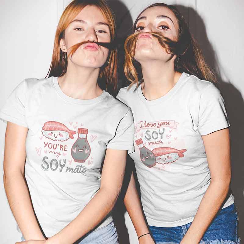magliette-amicizia-youre-my-soy-mate-I-soy-much-abbigliamento-wippio-migliore-offerta