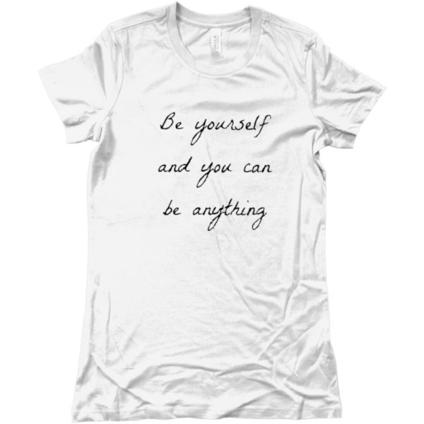 maglietta-be-yourself-and-you-can-be-anything-tshirt-bianca-collezione-influencer-instagram-moda-shop-online