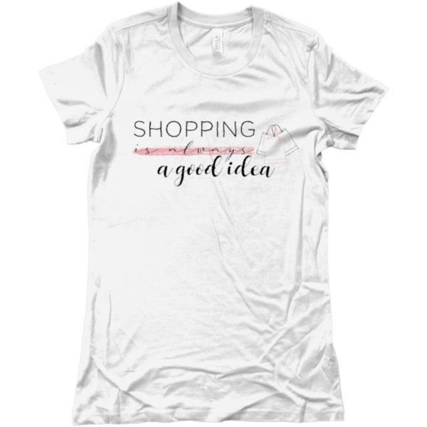 maglietta-shopping-is-always-a-good-idea-tshirt-bianca-collezione-influencer-instagram-moda-shop-online