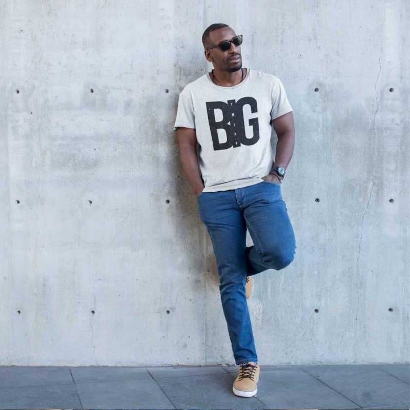 big sale f8898 46cff Maglietta bianca con stampa (T-SHIRT LOOK ESTATE 2019 ...