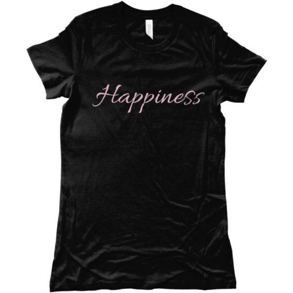 maglietta-happiness-tshirt-nera-collezione-influencer-instagram-moda-shop-online