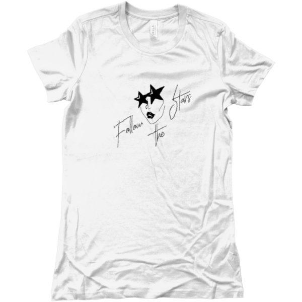 maglietta-follow-the-stars-tshirt-bianca-collezione-influencer-donna-instagram-moda-shop-online