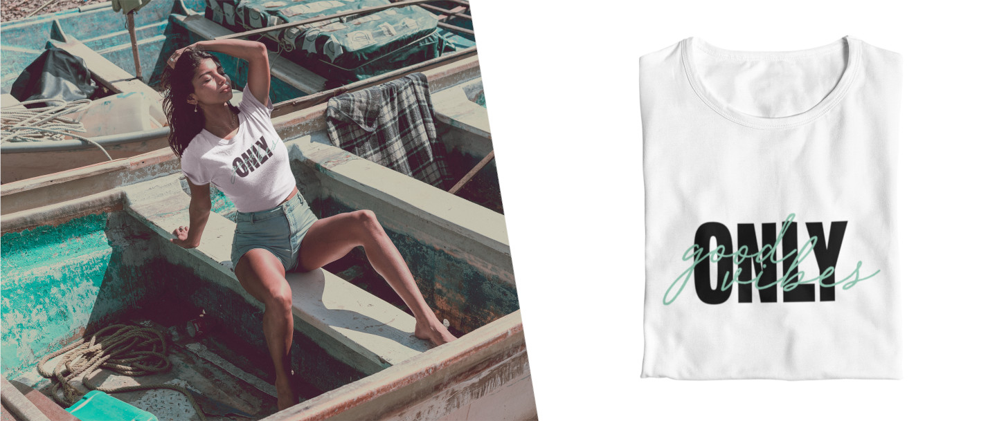 t-shirt-only-good-vibes-maglietta-bianca-moda-donna-2020-tendenza-influencer-social-instagram-tiktok